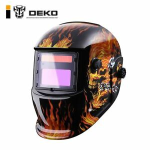 Electric Welding Mask Helmets Cap Skull Solar Auto Darkening Welding Machine Kit