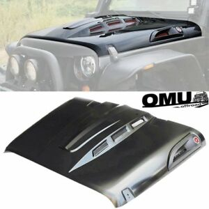 07 17 Jeep Wrangler Jk Jku Unlimited Hood Avenger Style Heat Dispersion Heat