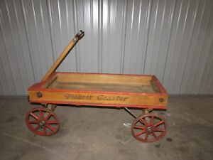 Gendron Pioneer Wooden Coaster Child S Pull Wagon Early 1900 S 2