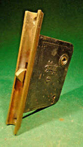 Rare Circa 1885 Reading Hardware Male Pocket Door Mortise Lock Nice 11139