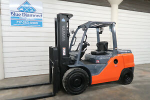 2014 Toyota Forklift 8fd50u 11 000 Pneumatic Diesel Three Stage Sideshift