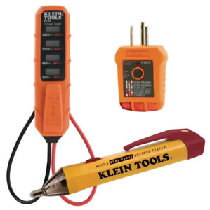 Klein Tools Electrical Test Kit Receptacle And Voltage Tester Multi Meter New