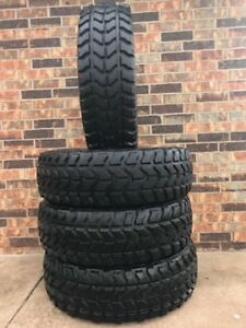 set Of 4 37x12 50r16 5 Mt Wrangler Tires 90 Military Humvee Hummer Mud
