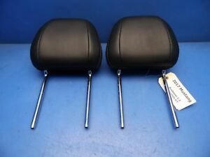 15 17 Ford Mustang Oem Front Seat Head Rests Headrests Black Leather Convertible