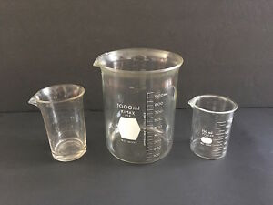 Chemistry Lab Measuring Beakers Vintage Laboratory Glass Lab Equipment For Decor