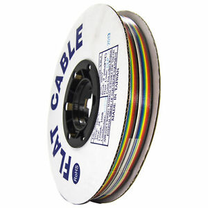 100 Feet Rainbow Ribbon Cable With 16 Conductors