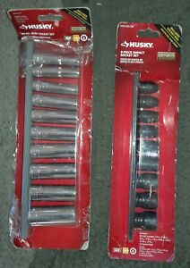 New Husky 3 8 10 Piece Deep Drive Mm Socket Set 9 Piece Sae Impact Socket Set