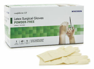 Mckesson Confiderm Lt Surgical Glove Sterile Size 7 5 3158va 40 Box