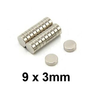9x3mm 11 32 X 1 8 Magnets Super Strong N35 Round Disc Neodymium Mini Fridge