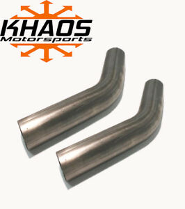 2 5 45 Degree Exhaust Elbow Mandrel Bend 304 Stainless Steel 16ga 2 Pack