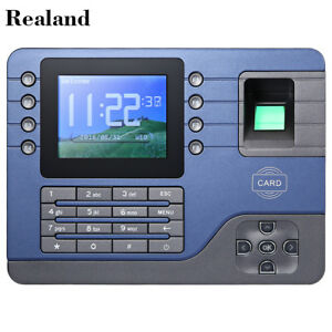 Realand Biometric Fingerprint Time Attendance Clock For Company school 2 Mode