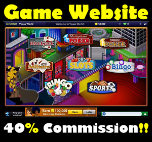 Website Vegas Games Online Business Internet Affiliate Money For Sale