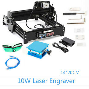 Usb 1420 Desktop Cnc Laser Engraving Diy Marking Machine Stepper Motor Drive Usa