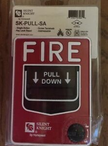 Silent Knight Sk pull sa Fire Alarm Pull Station Single Action Key Lock Reset