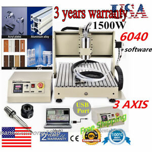 Usb 3 Axis 6040 Cnc Router Engraver Milling Machine Engraving Drilling Usa New