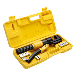 Finether 10t Hydraulic Crimper Plier Crimping Tool 8dies F Wire Battery Terminal