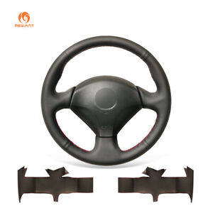 Black Pu Leather Steering Wheel Cover For Honda S2000 Civic Si Acura Rsx Type S