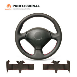 Black Leather Steering Wheel Cover For Honda S2000 Civic Si Insight Acura Rsx