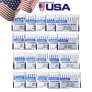 Dental Diamond Burs 20box High Speed Polishing Granule Coarse Emery Ex 26s New