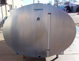 Mueller 2000 Oh16145 Stainless Steel Bulk Milk Cooling Farm Tank