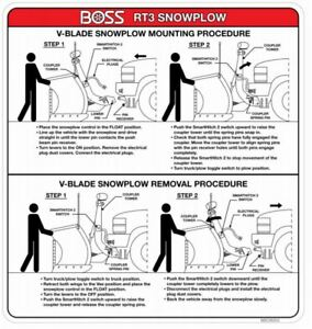 Boss Part Msc06353 Rt3 V Plow Decal Attachment Sticker Label