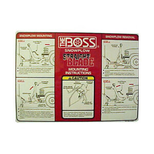 Boss Part Msc04009 Rt3 Straight Blade Plow Mounting Instructions Decal St
