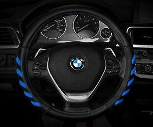 New Black Blue Car Steering Wheel Cover Hand Pad Buffer Size M 14 5 15 5