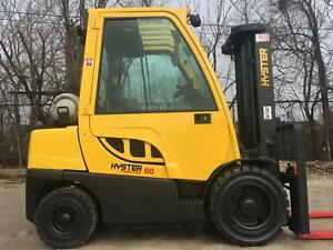 2008 Hyster H60ft Fortis Series Pneumatic Forklift Lift Truck 6000lb Capacity
