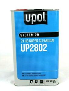 Clear Coat Hs Super Clear Kit U pol Up2802 W Choice Of Hardener 2 To 1 Mix Upol