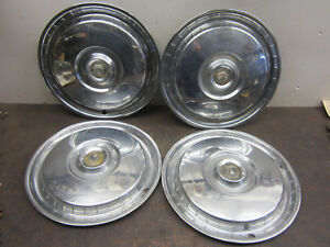 4 1955 1956 Ford 15 Hubcaps Full Size Wheel Covers Thunderbird T Bird