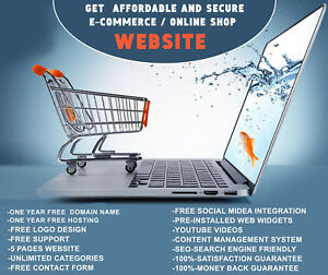 Ecommerce Store Shop Website Responsive Shopping Cart Website dropshipping
