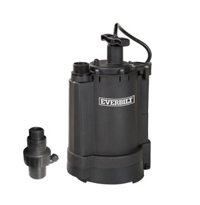 Everbilt 1 3 Hp Automatic Utility Sump Pump Ut03301