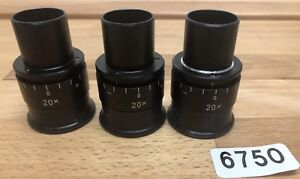Carl Zeiss Wild Leica Type Surgical Microscope Lens 20x Lot Of 3 6750