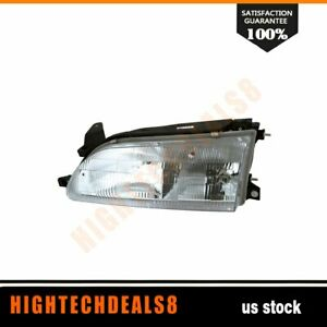 To2502107 Driver Left Side Headlight Assembly Fit Toyota Corolla 1993 1997