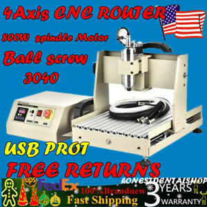 Usb 4 Axis Cnc 3040 Router Engraver Engraving Milling drill Machine 0 8kw Motor