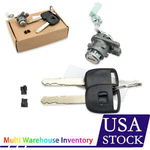 Left Driver Side Door Lock Cylinder W 2key For Honda Accord 2003 04 05 06 07