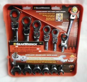 Gearwrench 7 Pc Sae Ratcheting Combination Flex Head Wrench Set 9700