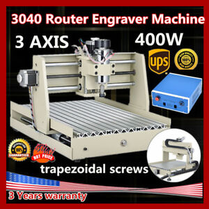 Cnc Router Engraver Engraving Cutter 3 Axis 3040 T screw Desktop 3d Cutting 400w