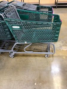 50 Shopping Carts Plastic Basket Used Store Fixtures Liquidation Cart