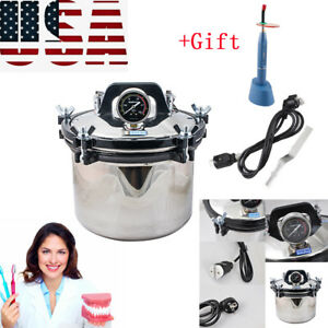 Stainless Steel Dental High pressure Steam Sterilizer Disinfector Easy Use gift