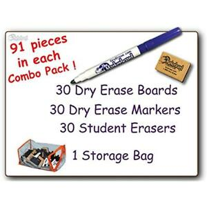 30 Dry Erase Boards Student Blank Dry Erase Boards Combo Pack Double Sided With