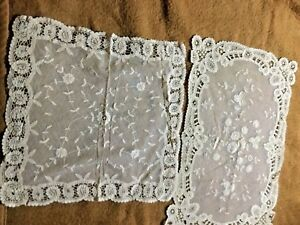 2 Pieces Of Lovely Normandy Lace One Is 12 X 18 And The Other 13 X 14