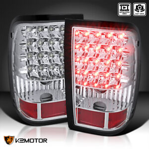 Fits 2006 2011 Ford Ranger Led Tail Lights Rear Brake Lamps Clear Replacement