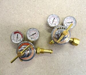Harris 25 100c 25 15c 650l Compressed Gas Regulator W Dual Gauge Set