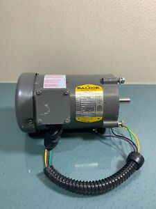 Baldor Vm3537 Industrial Electric Motor Made In Usa 3450rpm 1 2 Hp Ph 3 4b787