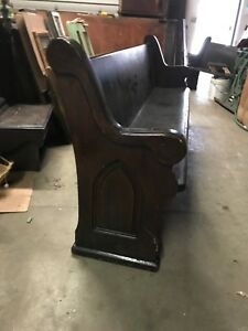 4 Available Price Separate Antique Church Pew Gothic End 7 4 To 9 Foot