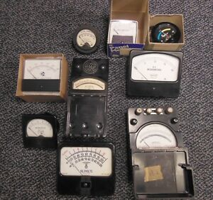 Lot Of 9 Amp Microamp Milliamp Kilovolt Beacon Ac Dc Volt Meters Used