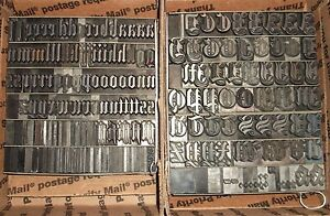 Antique 1800 s 60pt Anglo Saxon Letterpress Foundry Type Printing Old English