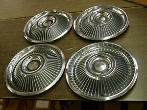 Nos Oem Ford 1967 Mercury Cougar Wheel Covers Hub Caps 14 Set Emblem Trim