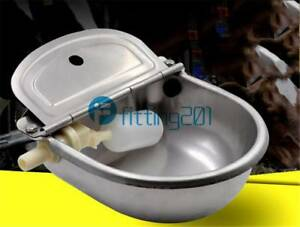 Feeder Trough Bowl Cattle Horse Goat Sheep Dog Animal Stainless Automatic Water